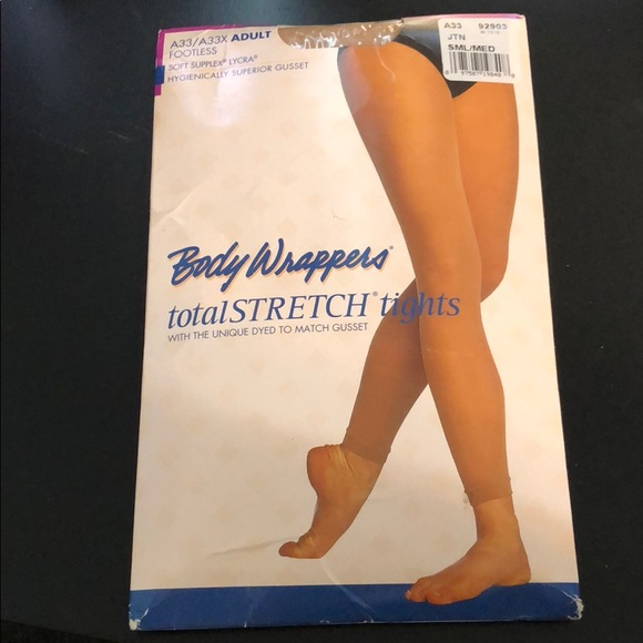 Body Wrappers A33 Jazzy Tan Women/'s Size Large//Extra Large Footless Tights